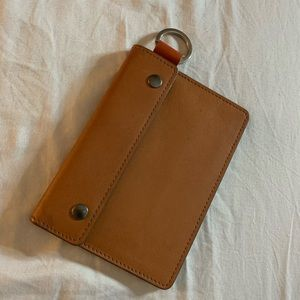 Fossil card holder with key chain wallet purse